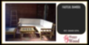 Complet salon 5 places en bambou