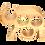 Thumbnail: Eléphant support à bouteilles 3 compartiments