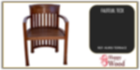 chaise teck