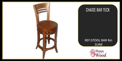 chaise de bar pivotant teck- tabouret