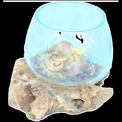 Vase verre soufflé / racine
