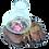 Thumbnail: Bougeoir racine 1 bougie