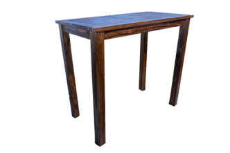 table haut teck - table bar teck