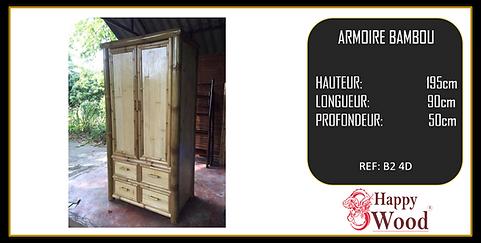 armoire bambou