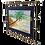 """Thumbnail: Tableau """" La Réunion"""" plage et cocotier"""