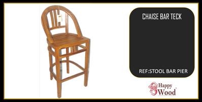 chaise de bar teck