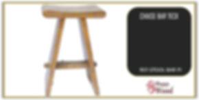 tabouret de bar forme de pi