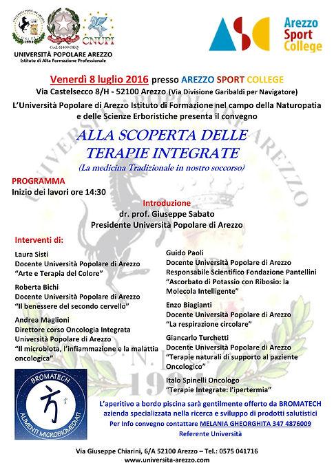 Università Arezzo Naturopatia Scienze erboristiche aurasoma arte terapia del colore