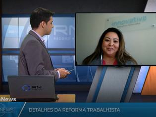 TV RECORDNEWS | Programa Hora News - Márcia Makishi fala sobre a Nova Lei Trabalhista