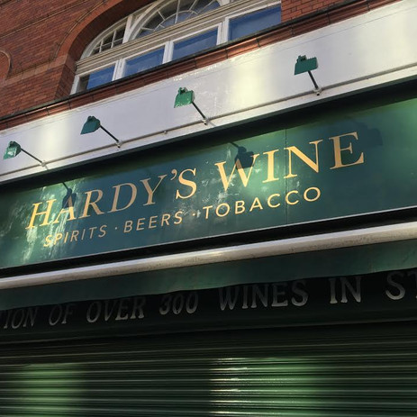 Hardys Wine Shop Sign