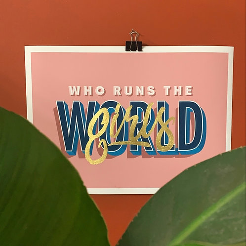 Who Runs the World pink edition