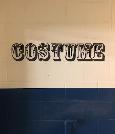 Bespoke Hand Painted Sign for a Costume Department