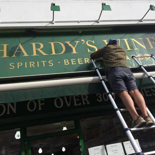 Hardy's Wine Shop Sign