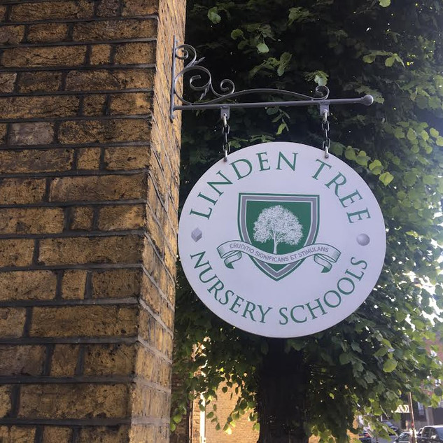 Linden Tree Swing Board Sign