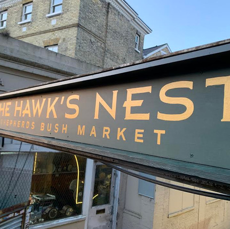 The Hawks Nest Sign