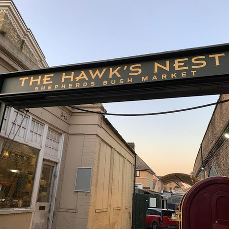 The Hawks Nest Bar Sign