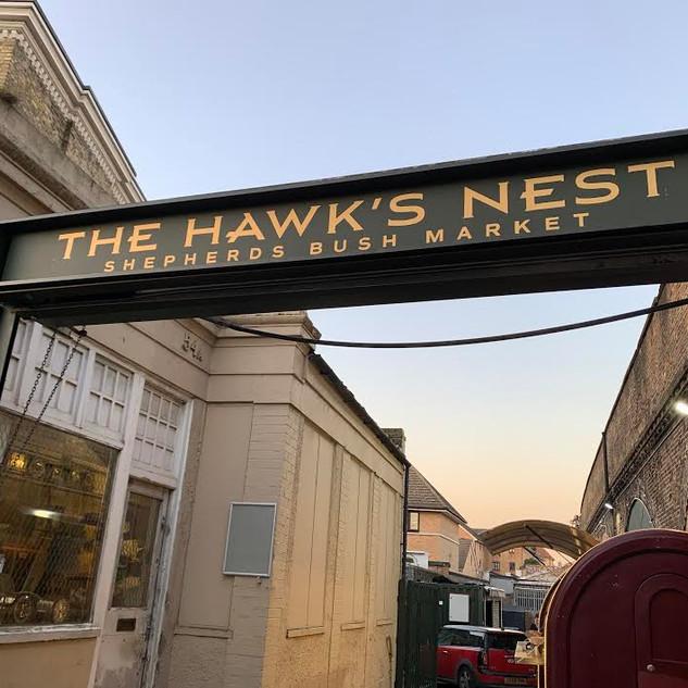 The Hawks Nest Bar Sign
