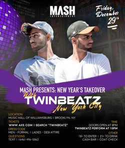 Twinbeatz New Years Takeover at NYC
