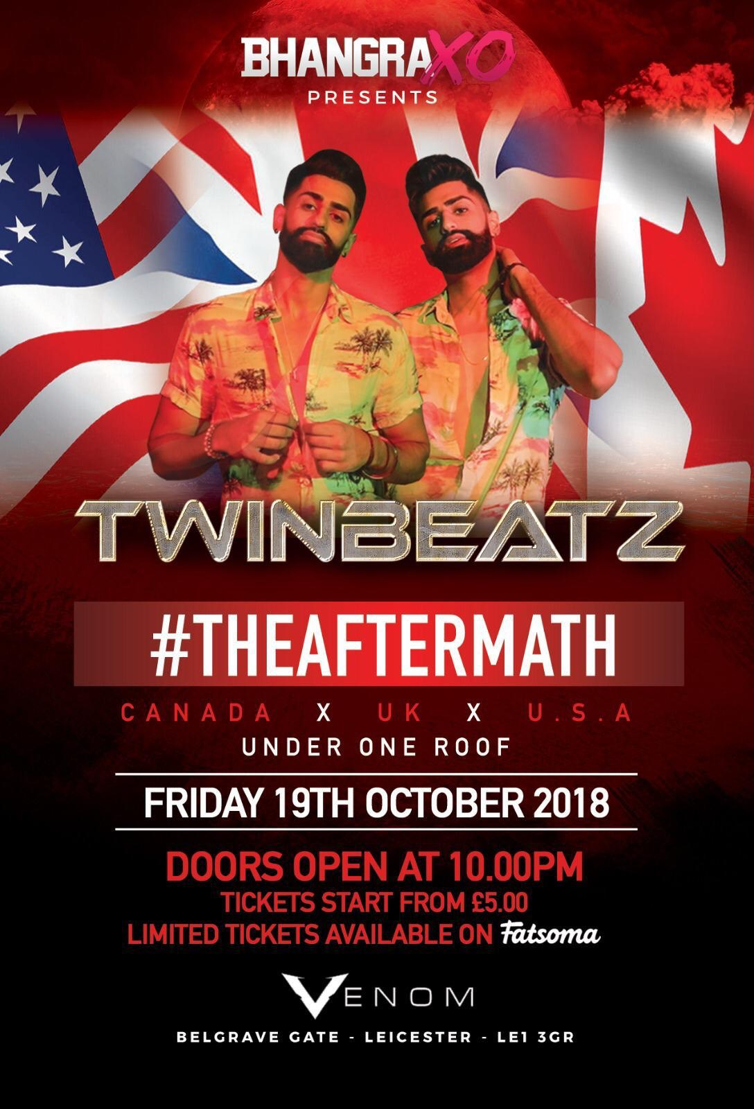 Twinbeatz in Leicester, UK -Oct 2018
