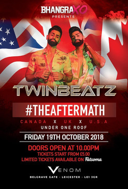 Twinbeatz in Leicester, UK -Oct 2018