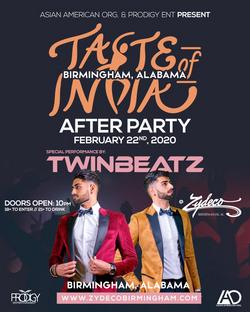 Twinbeatz at Taste of India