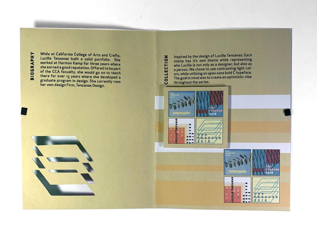 Lucille Tenzanas Stamp Booklet, Sebastian Diaz