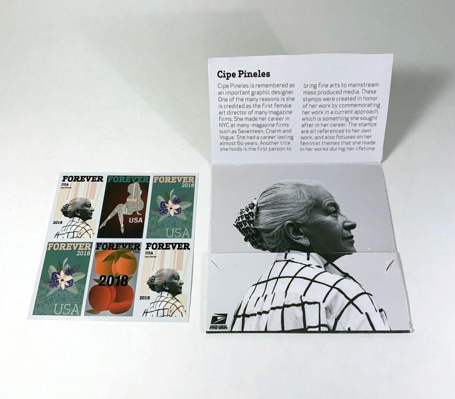 Cipe Pineles Stamp Booklet, Rowan Vogel