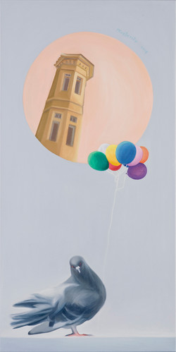 2015 Pigeon with balloons