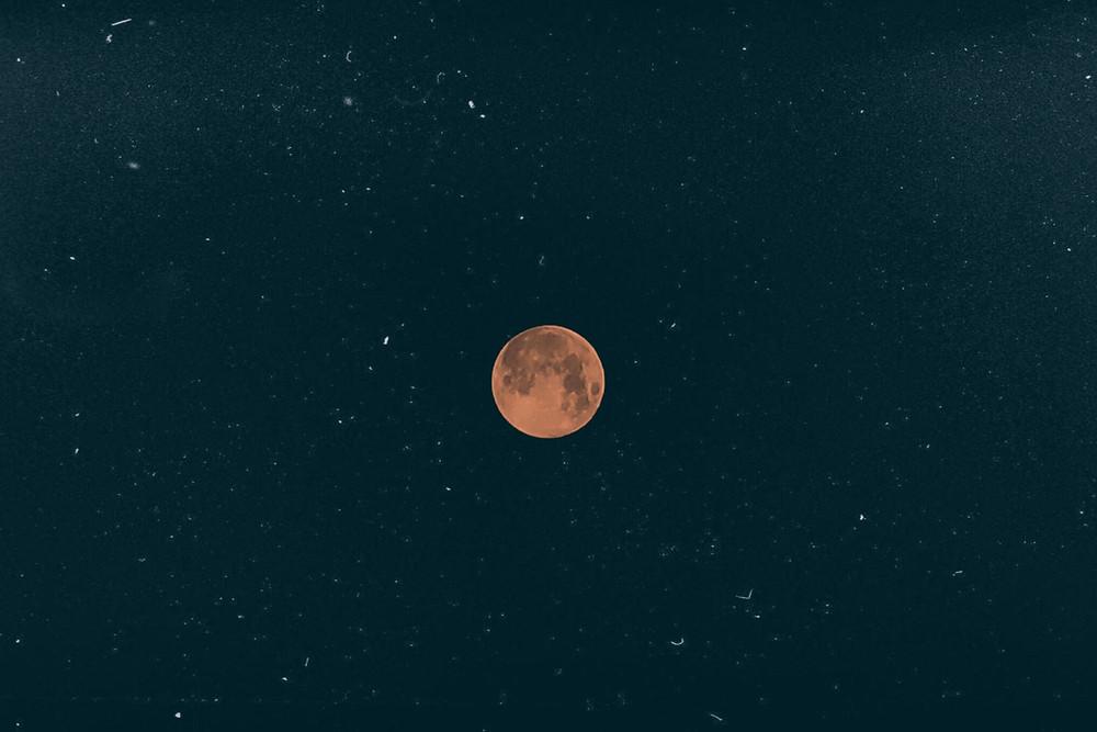 Mars as moon terraforming mars red planet red moon blood moon