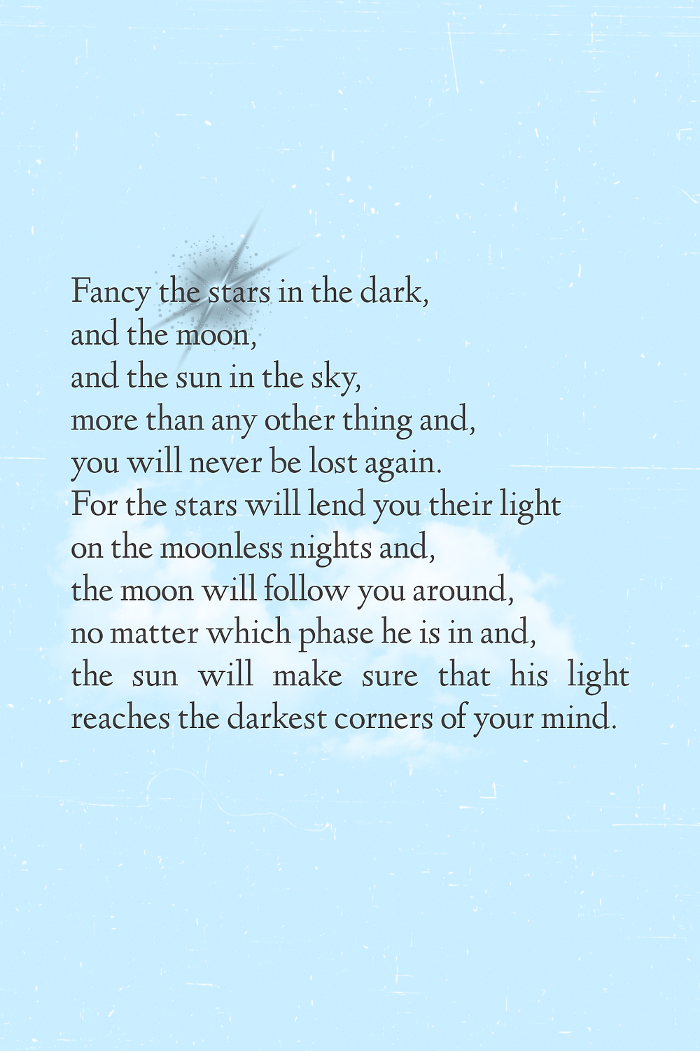 inspirational poem about stars