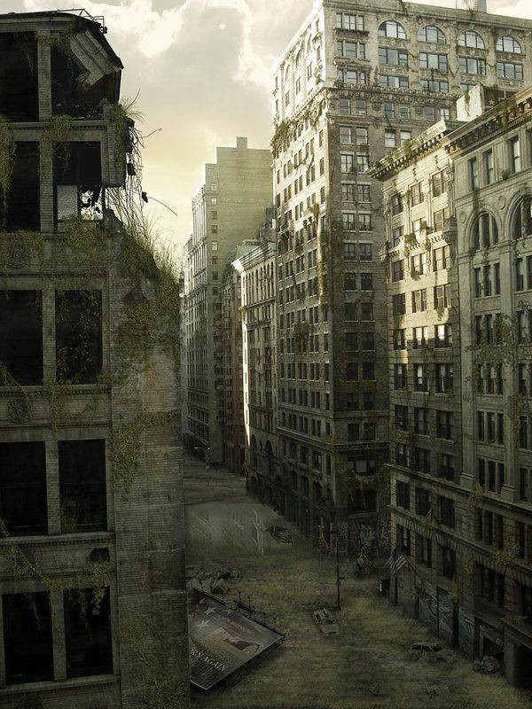 Ruins of post apocalyptic world