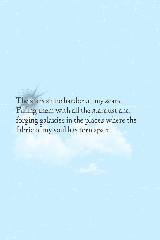 aesthetic poem on stars