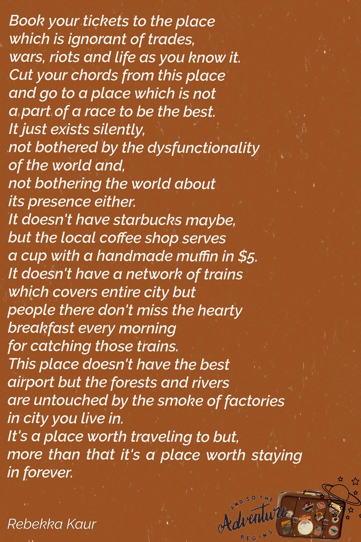 traveling poetry aesthetic by Rebekka Kaur