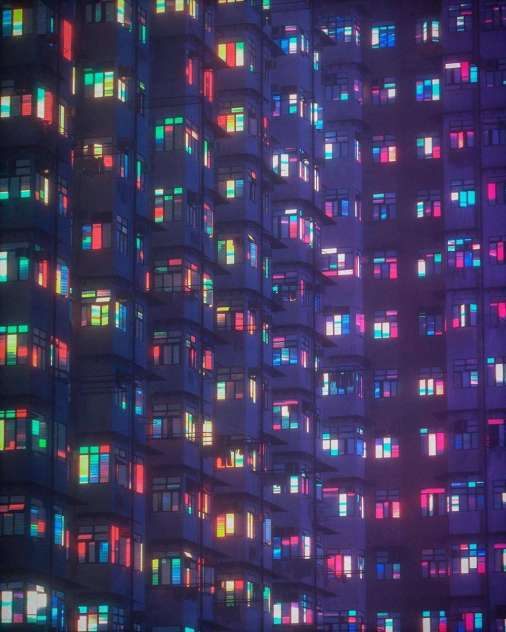 Apartments, digital art, scifi poem, astral poem