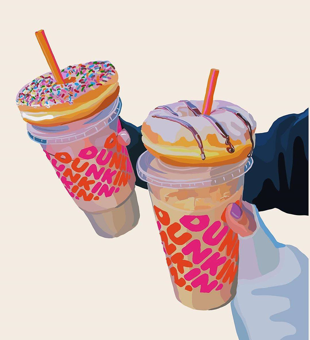 donuts and coffee from dunkin donuts