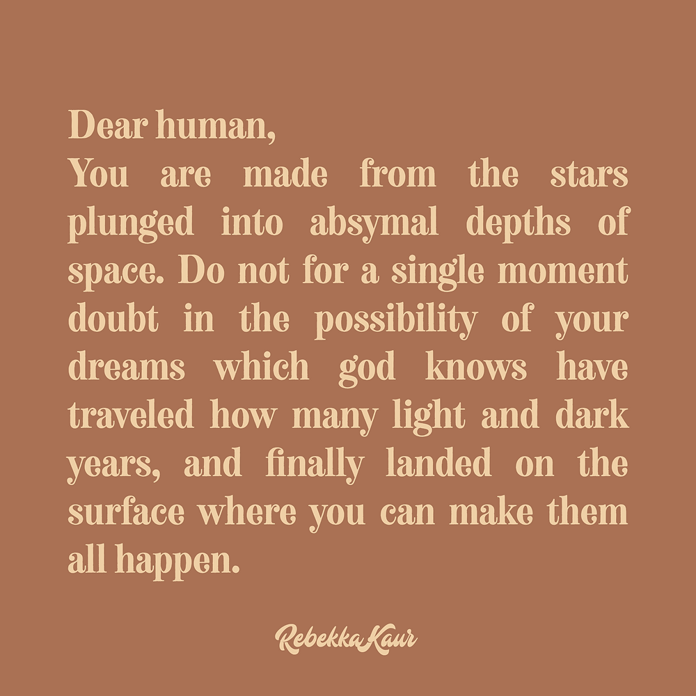 Humans are made from stars quotes