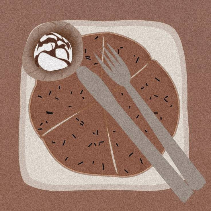 Pancake with nutella
