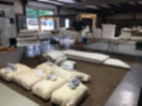 We clean outdoor patio furniture cushions!