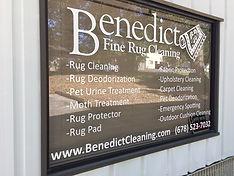 Benedict Fine Rug Cleaning Shop Window s
