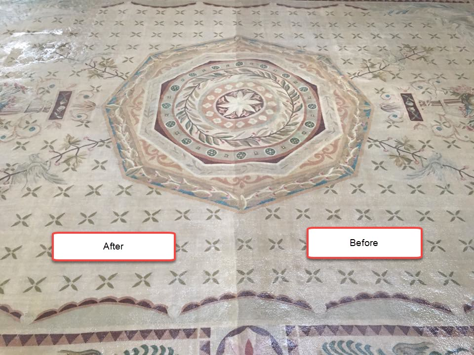 Rug Cleaning Before and After Wash