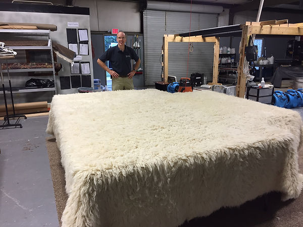 Cleaning a large Flokati rug