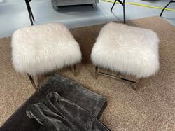 Small foot stools and cushions