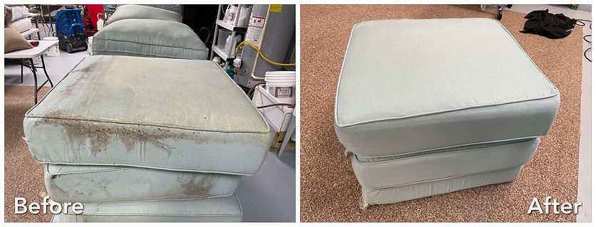 before and after outdoor patio cushions.