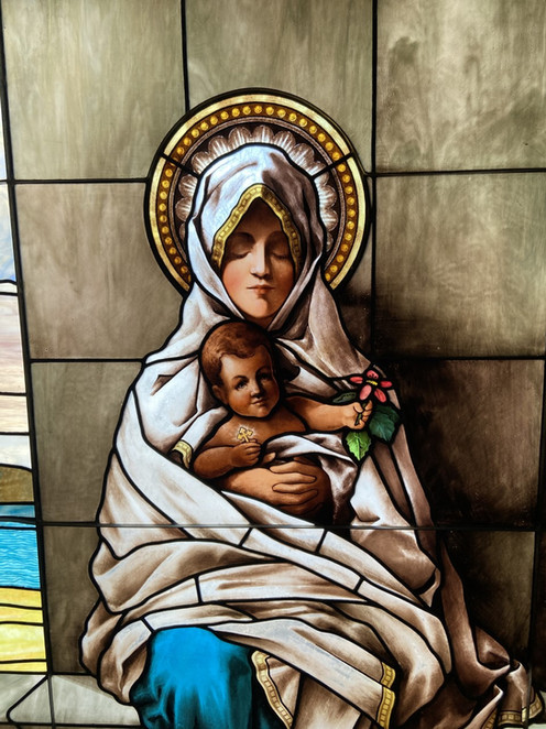Mary stained glass in Chapel
