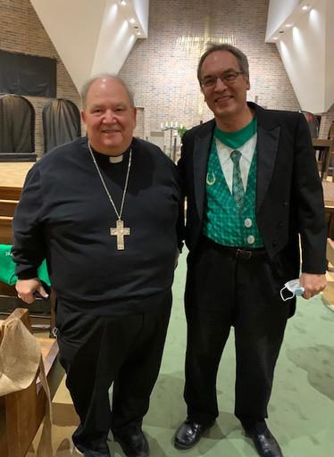 Archbishop Hebda and Tim Smith