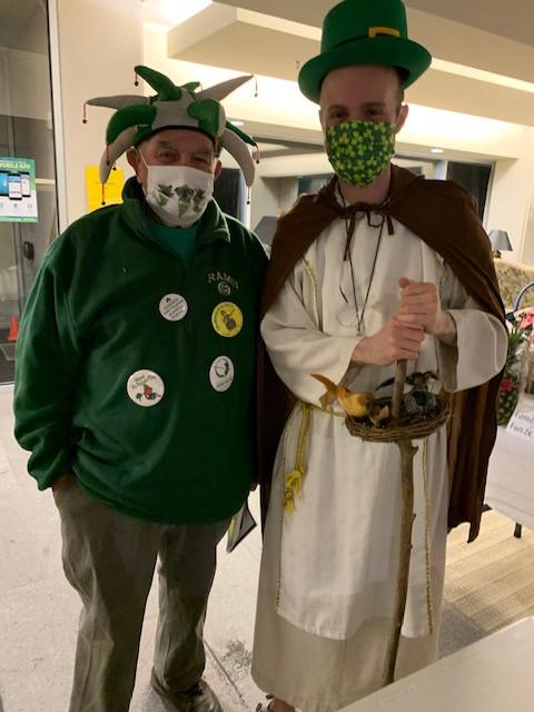 Parishioner John with a saint