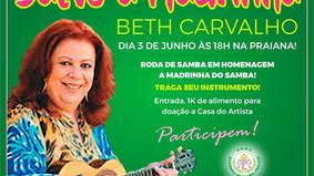 Samba solidário na Praiana