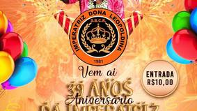 Imperatriz promove festa para o seu aniversário