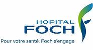 Enseigne colorée de l'hôpital Foch de la ville de Suresnes