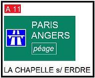 panneau routier paris | Angers | La Chapelle sur Erdre